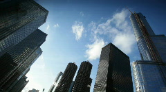 Clouds moving above a big city. Stock Footage
