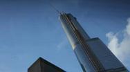 A skyscraper in Detroit, Michigan. Stock Footage