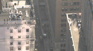 Zoom out from activities in downtown Detroit, Michigan. Stock Footage