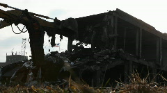 A building is demolished. Stock Footage