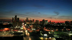 Time lapse late evening view of Detroit, Michigan. Stock Footage