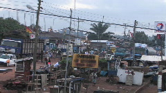 Daily life in a town in Africa. Stock Footage