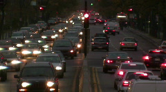 Time lapse traffic at night Stock Footage