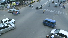 A traffic jam at a busy intersection without traffic lights. Stock Footage