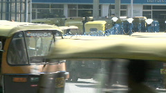 A sped up journey through the traffic in a busy city. Stock Footage