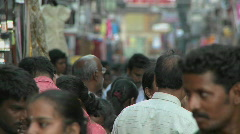 A crowded street in India Stock Footage