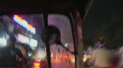 Travelling in an auto-rickshaw in Bangalore, India Stock Footage