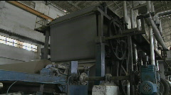A machine working in a factory. Stock Footage