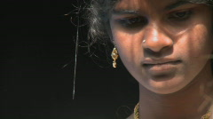 An Indian girl in conversation. Stock Footage
