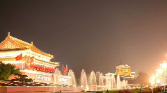 Tiananmen Gate Stock Footage