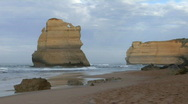 Rock formations known as the Twelve Apostles along the Stock Footage