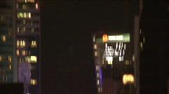 NYC TimesSquare-tiltdn night Stock Footage