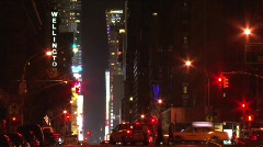NYC TimesSquare,bustle-tilt,rack night - stock footage