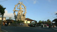 A giant statue of a Hindu god stands at the center of an Stock Footage