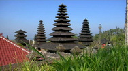 Stock Video Footage of Trees surrounds buildings of the Besakih Temple complex in Bali.