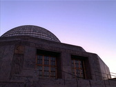 Stock Video Footage of Adler Planetarium Sunset Chicago NTSC