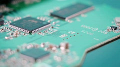 Inside view of hardware component slowly spinning around. Stock Footage