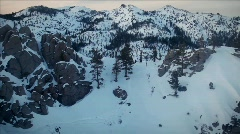 Mountains are covered with snow. Stock Footage