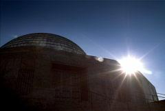 Adler Planetarium Sunrise Chicago NTSC Stock Footage