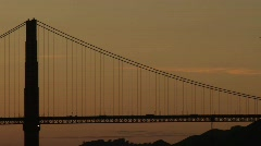 SF Goldengate-wide sunset Stock Footage