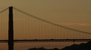 Stock Video Footage of SF Goldengate-wide sunset