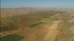 Helicopter aerial of the Santa Maria Valley, California. Stock Footage