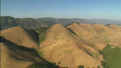 Helicopter aerial of the hills north of the Santa Maria Stock Footage