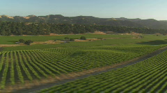 Helicopter low level aerial of Santa Barbara County - stock footage