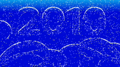 Snow-clad New Year 2010. Stock Footage
