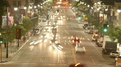 Time lapse of traffic in a downtown area. Stock Footage
