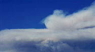 Stock Video Footage of Time lapse of smoke clouds billowing in the sky.