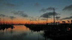 Time lapse of a harbor during sunset. Stock Footage