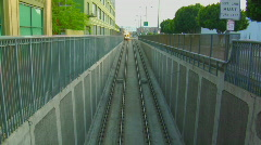A subway moves above ground. Stock Footage