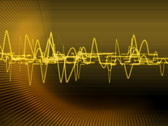 gold audio lines effect Stock Footage