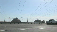 Traffic passes near the San Onofre nuclear facility. Stock Footage