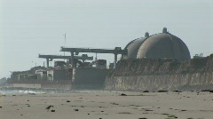 Establishing shot of the San Onofre nuclear power plant near San Diego, Stock Footage
