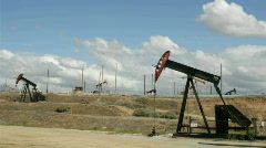 Oil pumps move up and down in time lapse. Stock Footage