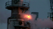 Steam emits from an industrial plant. Stock Footage