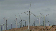 Wind turbines generate electricity. Stock Footage