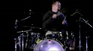 A musician plays the drums. Stock Footage
