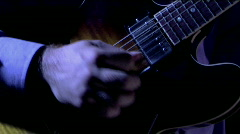 A man plays the bass fiddle. Stock Footage