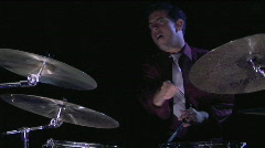 A drummer plays in close up. Stock Footage