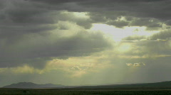 Clouds move through a darkening sky. Stock Footage