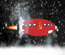USSR Rocket in Space Stock Footage