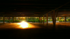 Underground sunset lights hdr time lapse Stock Footage