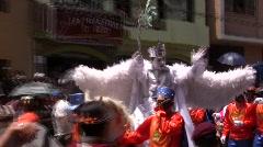 Fiesta de la Mama Negra, Latacunga, Ecuador Stock Footage