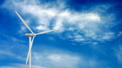 Wind turbines generating electricity visualisation of wind Stock Footage