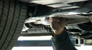 Oil Change Drain Plug Stock Footage
