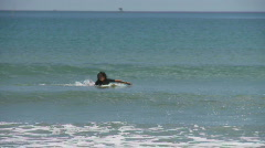 Surfer is surfing on a very small wave  Stock Footage