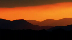 AVL SunsetOrange 005737 Stock Footage